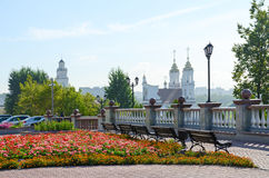 View of Resurrection (Rynkovaya) Church and town hall, Vitebsk, Royalty Free Stock Image