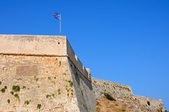 View of Rethymno castle, Crete. Royalty Free Stock Images