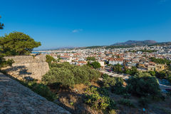 View from Rethymno city Stock Images