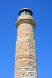 View of Rethymno lighthouse, Crete. Royalty Free Stock Images