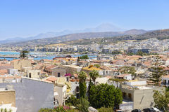 View on Rethymno town. Crete. Greece Stock Photography