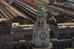 View of Retiro railway station. Royalty Free Stock Photo