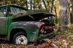 Abandoned Ford F-100 Truck - Junkyard - Pennsylvania stock image