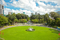 View from Reunification Palace in Ho Chi Minh City,Vietnam. stock photography