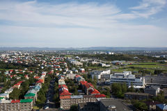 View of Reykjavik from above, Iceland Stock Photos