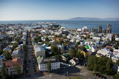 View of Reykjavik from Hallgrimskirkja church, Iceland Royalty Free Stock Photo