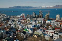 View of Reykjavik Stock Images