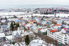 View of Reykjavik Iceland Royalty Free Stock Images