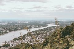 View on the Rhine in Bonn, Germany stock photos