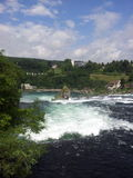 View of the Rhine Falls, Switzerland Royalty Free Stock Photo