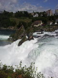 View of the Rhine Falls, Switzerland Stock Photo