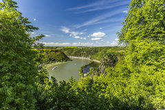 View of the Rhine Valley. Hiking tour stock photography