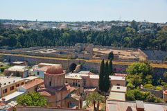 View of rhodos old city Stock Image