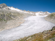 View of Rhone glacier, Switzerland stock photography