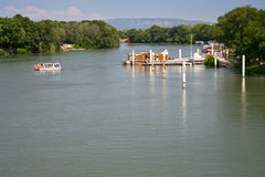 View on Rhone river Royalty Free Stock Image
