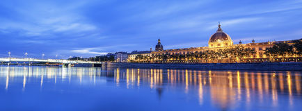 View of Rhone river Stock Photo