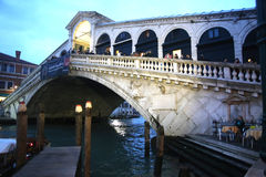 View of Rialto Bridge Stock Images