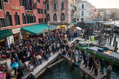 View from the Rialto Bridge in Venice Royalty Free Stock Image
