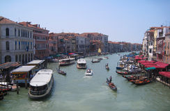 View from Rialto bridge in Venice, Italy Royalty Free Stock Image