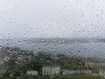 view of Ribadeo on a rainy day Royalty Free Stock Image