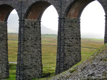 View through the Ribblehead arches stock photography