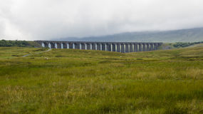 View of Ribblehead Railway Viaduct. Yorkshire, England, UK. Royalty Free Stock Photo
