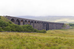 View of Ribblehead Railway Viaduct. Yorkshire, England, UK. Stock Photography
