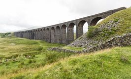 View of Ribblehead Railway Viaduct. Yorkshire, England, UK. Royalty Free Stock Photography