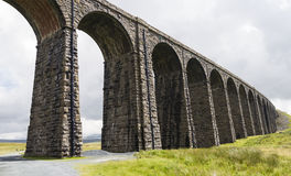 View of Ribblehead Railway Viaduct. Yorkshire, England, UK. Royalty Free Stock Photos