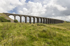 View of Ribblehead Railway Viaduct. Yorkshire, England, UK. Stock Photo