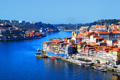 View of Ribeira in Porto. View of Ribeira, located in the historical centre of the city of Porto, designated World Heritage by UNESCO stock photography