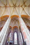 View at a rich decorated ceiling, a huge church royalty free stock photos