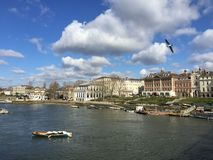Scenic view of richmond upon thames stock image