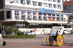 View of Ricksha Cart in Front of Hotel Royalty Free Stock Photo