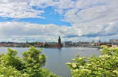 View of Riddarfjärden towards the City Hall Stock Images