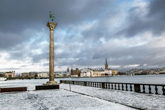 View of Riddarholmen and Gamla Stan from the Kungsholmen island Stock Image