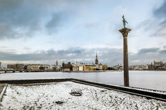 View of Riddarholmen and Gamla Stan from the Kungsholmen island Royalty Free Stock Photography