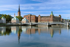 View of Riddarholmen island in Stockholm, Sweden Stock Images
