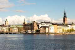 View of Riddarholmen During Sunset, Stockholm Stock Photography