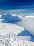 View of the ridge of mountain in Low Tatras in Slovakia Royalty Free Stock Images