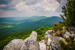 View of the Ridge and Valley Appalachians from Tibbet Knob, in G Stock Image