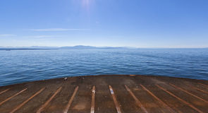 View of Riding a Ferry Boat Royalty Free Stock Photo