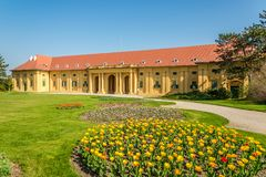 View at the riding hall in the area of Lednice castle - Czech republic,Moravia Stock Photo