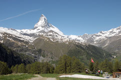 View from Riffelalp of the Matterhorn Stock Photography