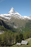 View from Riffelalp of the Matterhorn Royalty Free Stock Photo