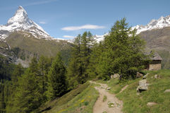 View from Riffelalp of the Matterhorn Stock Photos