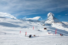 View from Riffelberg on to Matterhorn Royalty Free Stock Images