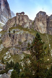 View of the  Rifugio Vajolet. Pozza Di Fassa, Italy Royalty Free Stock Photo