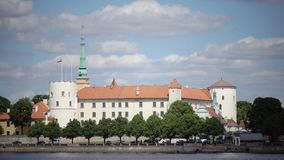 View of the Riga Castle - the residence of President of Latvia Old Town, Riga, Latvia stock video