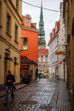 View on Riga downtown in Latvia Stock Photo